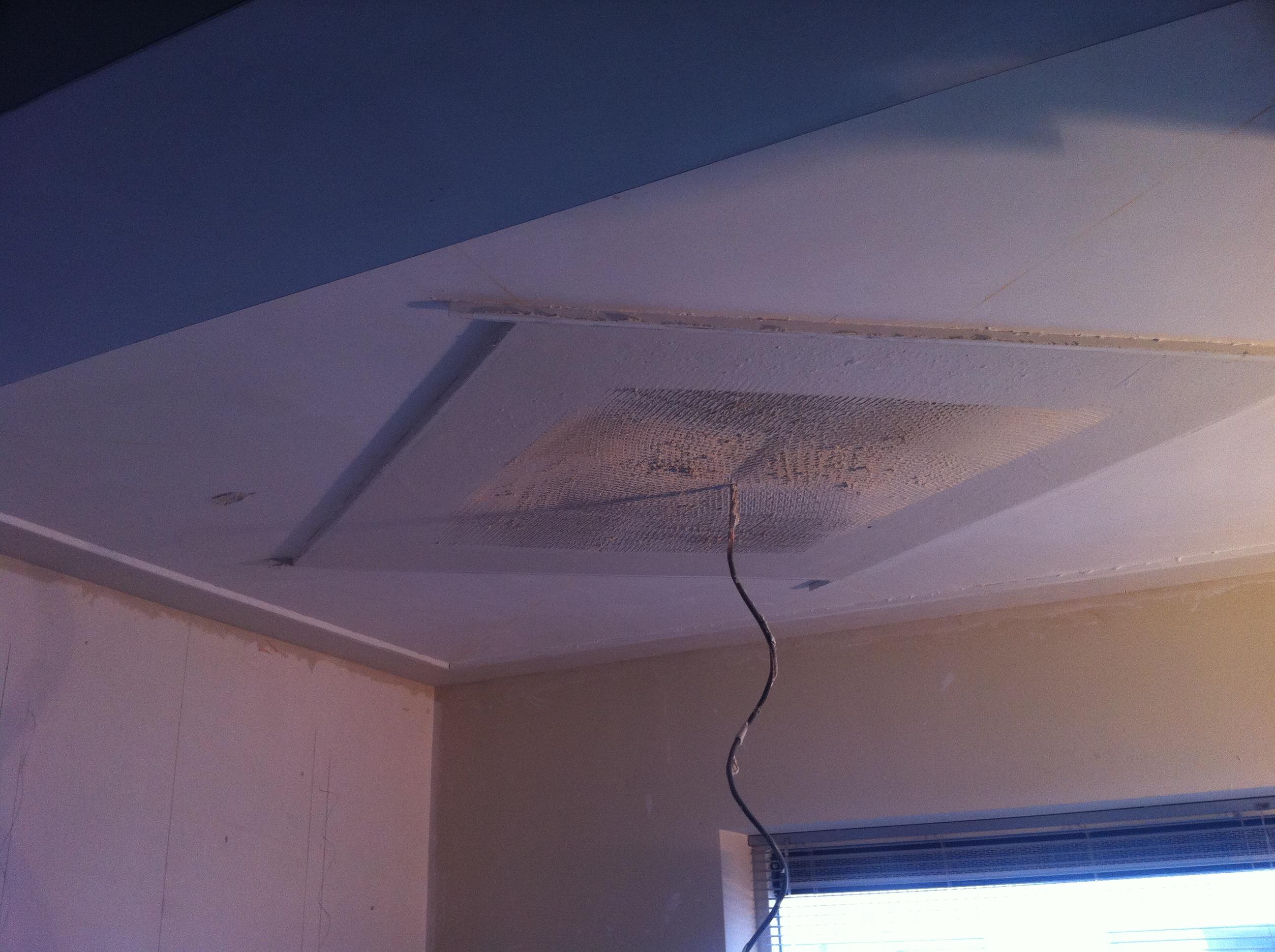 Plafondmal gestuct
