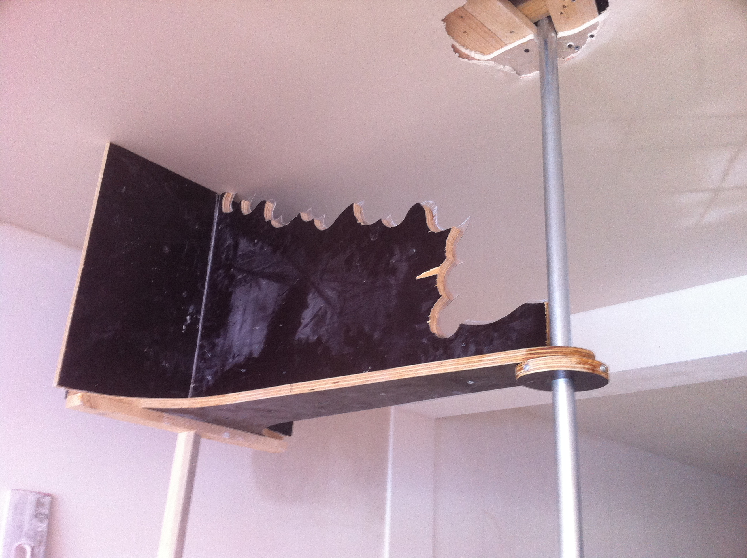 Ronde mal aan plafond