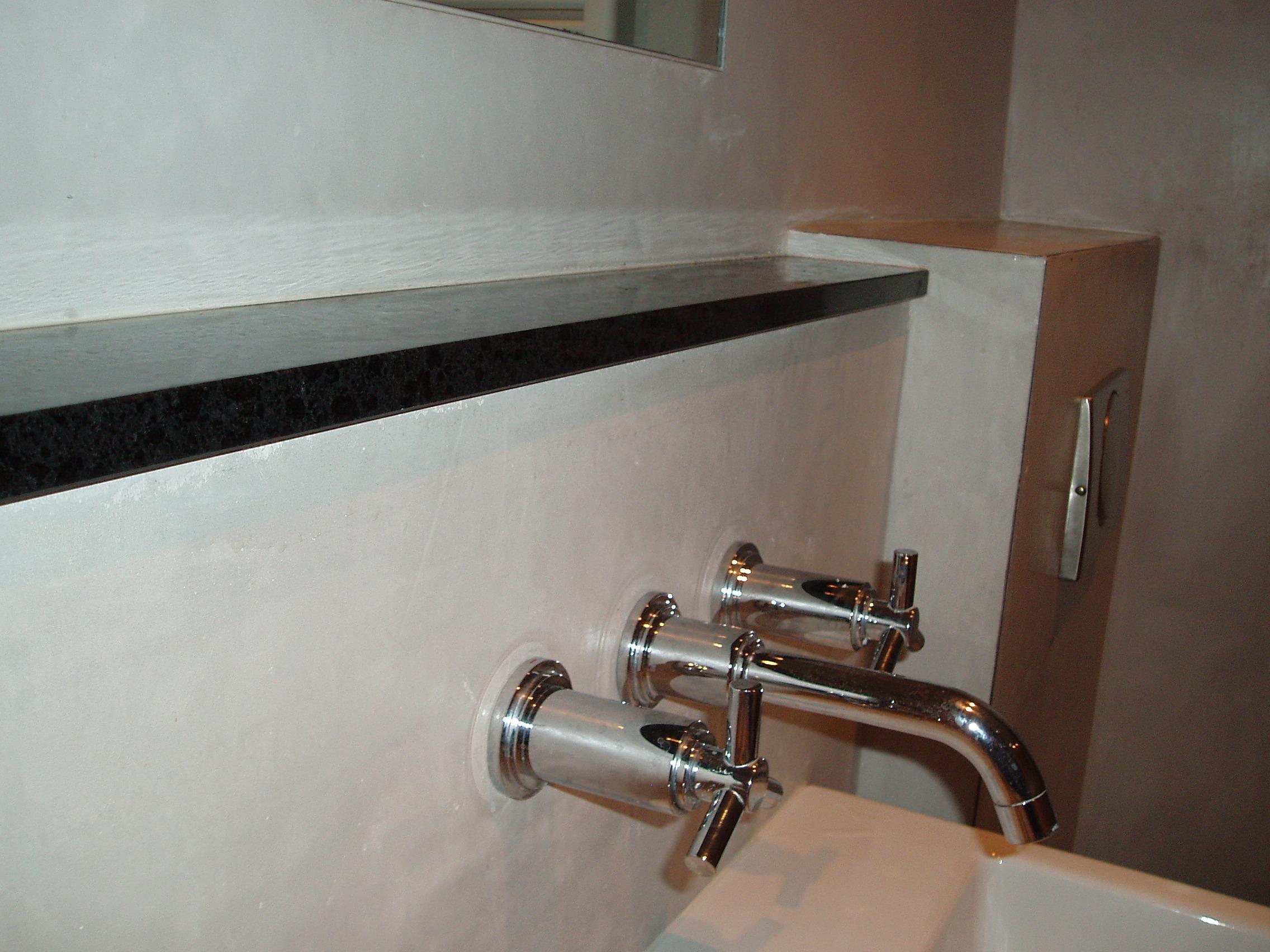 Betonnen Wasbak Badkamer : Restylexl badkamermeubel van oud eiken en beton product in beeld